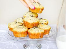 Muffin cioccolato bianco sesamo nero