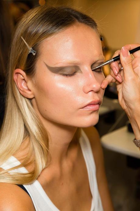 I pigmentary notano su un occhio alla persona