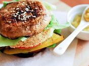 Portobello buns burger