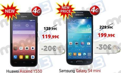 Promozione Vodafone: sconti su Ascend Y550 e Galaxy S4 Mini