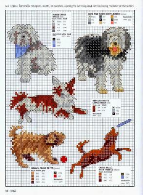 Grande raccolta di schemi a punto croce a tema cani for Schemi di cabina di log