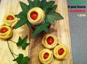 Stuzzichini: fiori pasta focaccia pomodorini ciliegino grana