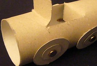 Costruire una macchina con un rotolo di carta paperblog - Macchina per decorare carta ...