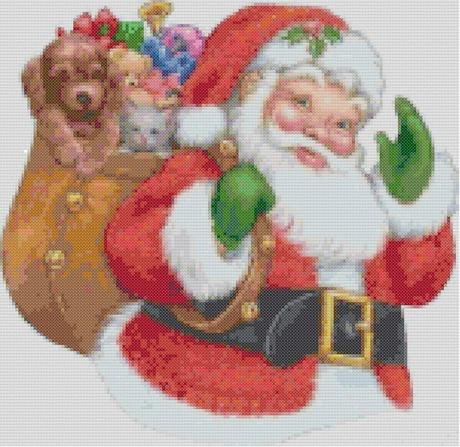 Exceptionnel Schemi per il punto croce: Babbo Natale - Paperblog DL84
