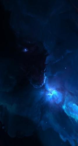 Atlantis Labyrinth Nebula-iphone-5s-parallax-applefive_net