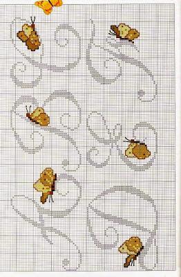 Lettere alfabeto con farfalle a punto croce paperblog for Lettere a punto croce schemi