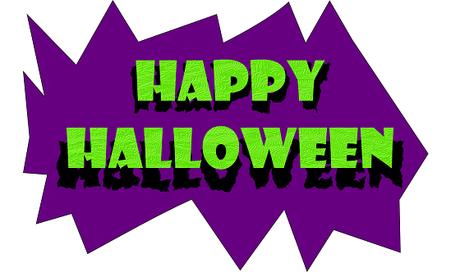Una scritta per Halloween disegnata con Inkscape