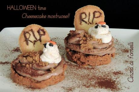 Mini halloween cheesecake