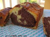 Plum cake alla panna variegato cioccolato
