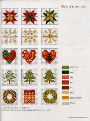 Piccoli e facili schemi a punto croce dedicati al natale for Punto croce schemi facili