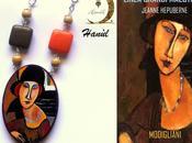 Pendente dipinto mano, JEANNE HEBUTERNE, Amedeo Modigliani, Hanùl