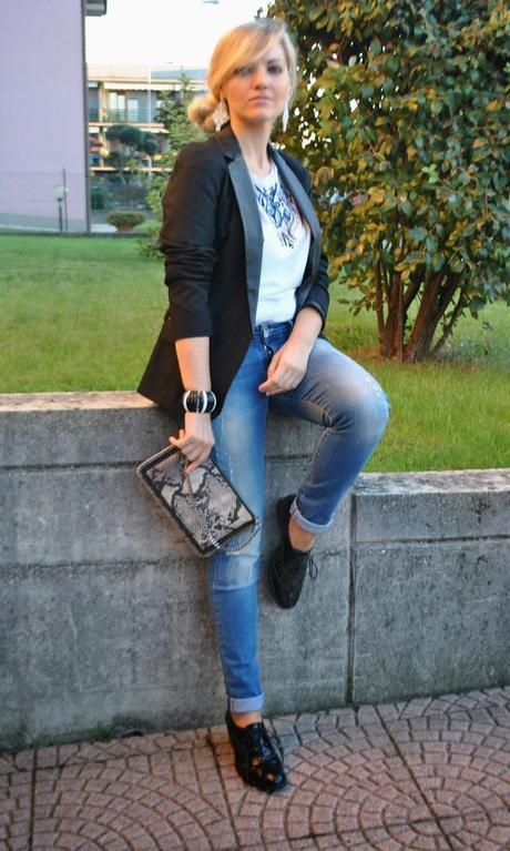 Outfit jeans blazer e stringate paperblog - Pimkie boyfriend jeans ...