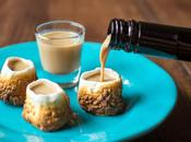 Bicchieri shot marshmallow tostati