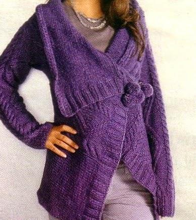 Lavori a maglia  Un giaccone viola - Paperblog 3cc096ae0201