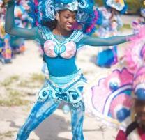 Bahamian dancer at the Junkanoo street carnival parade