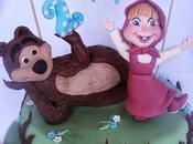Masha l'orso cake