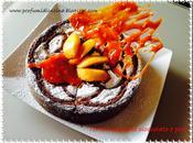 Torta mandorle, cioccolato pere