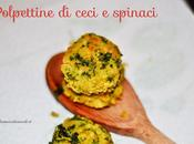 Polpettine ceci spinaci
