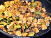 Tofu marinato zucchine melanzane