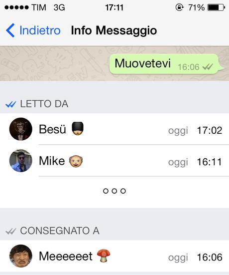 Whatsapp come sapere se i membri di un gruppo leggono i messaggi paperblog - Come sapere se un sms e stato letto ...