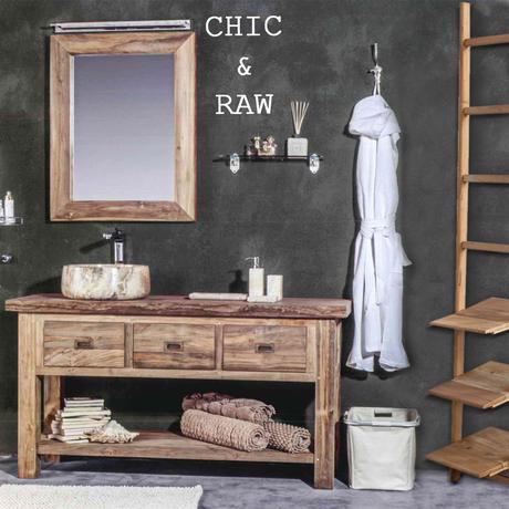 Il bagno è in stile CHIC & RAW - Paperblog