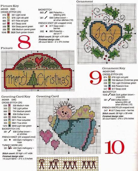 Belle idee a punto croce per i regali di natale paperblog for Idee punto croce neonati
