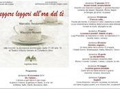 COLLEFERRO: LEGGERE LEGGERI ALL'ORA 2014 otto incontri Teatro Vittorio Veneto