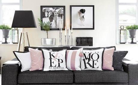 Rosa Nero e Bianco: i nuovi colori per l\' arredamento ...