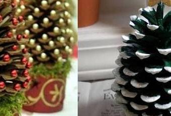 Decorare con le pigne l albero di natale paperblog - Decorazioni con le pigne per natale ...