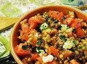 Insalata farro, pomodori provola Sorrento profumo basilico