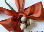Chiudipacco natalizi: ghiande quilling