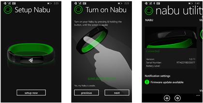 Alcune immagini di Nabu Utility