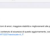 Disponibile 8.1.1: miglioramenti nelle prestazione iPhone iPad