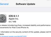 Rilasciato 8.1.1, risolti migliorata stabilità iPhone iPad