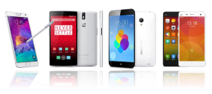Classifica: Xiaomi Mi4, Samsung Note 4, Oneplus One e Meizu MX4 a confronto