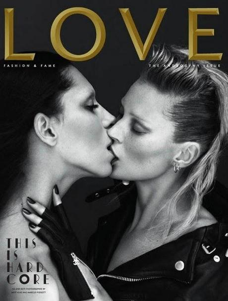 COVER GIRL // KATE MOSS & LEA T. BY MERT&MARCUS; PER LOVE MAGAZINE 2011