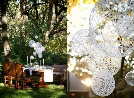 Lanterne Da Giardino Fai Da Te : Merletti sfere e lanterne fai da te paper