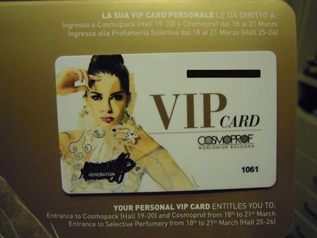VIP Card COSMOPROF ♥