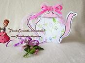 Scatoletta teiera, porta confetti bustine tè!!