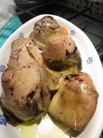 Pollo e carciofi grigliati