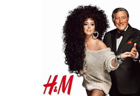 Lady Gaga & Tony Bennet for H&M's Holidays champaign