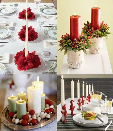 Candele centrotavola per natale paperblog - Decorazioni natalizie con candele ...