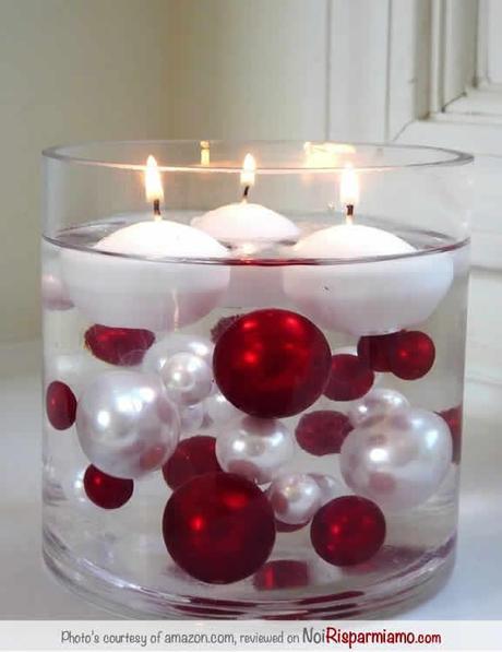 Candele centrotavola per natale paperblog for Addobbi tavoli matrimonio con candele