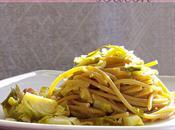 Spaghetti cavoletti Bruxelles bacon