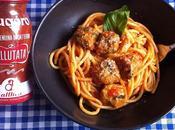 Spaghetti pomodoro polpettine salsiccia friarielli