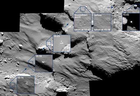 #CometLanding: OSIRIS narrow-angle camera - Credit: ESA/Rosetta/MPS for OSIRIS Team MPS/UPD/LAM/IAA/SSO/INTA/UPM/DASP/IDA