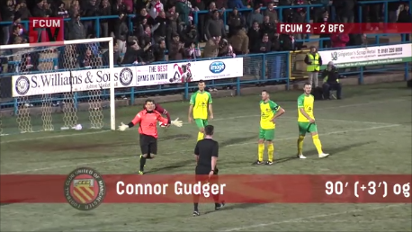 (VIDEO)Crazy own goal at 90°+3 in FC United v Barwell FA Trophy Replay match