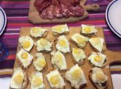 Crostini uova quaglia tartufo