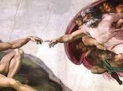 Schema punto croce: creazione Adamo Michelangelo