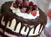 Torta cioccolato yogurt lampone mousse